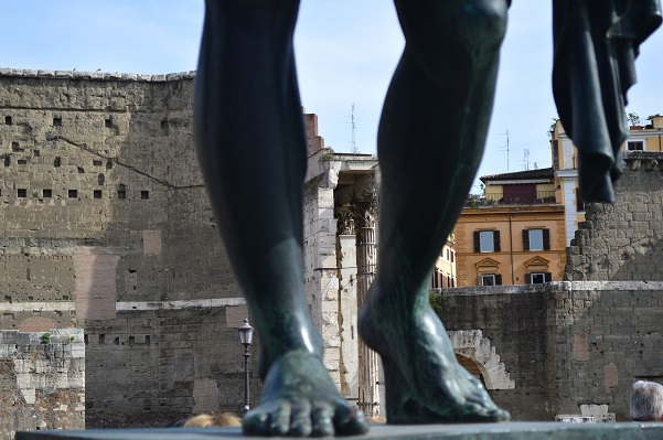 Augustus' Forum Through His Legs