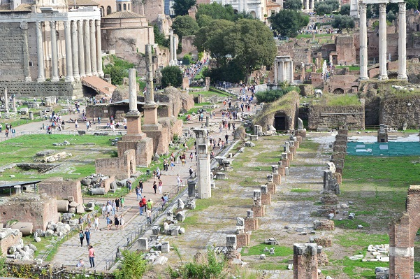 Elevated View of Foro Romano
