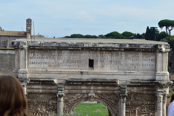Inscription on Arch of Septimius Severus