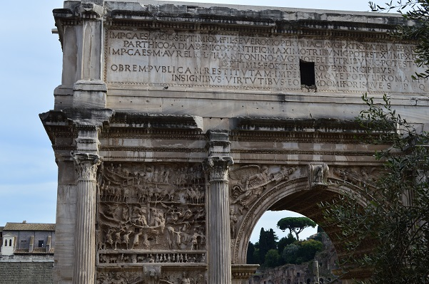 Wider shot of Arch of Septimius Severus