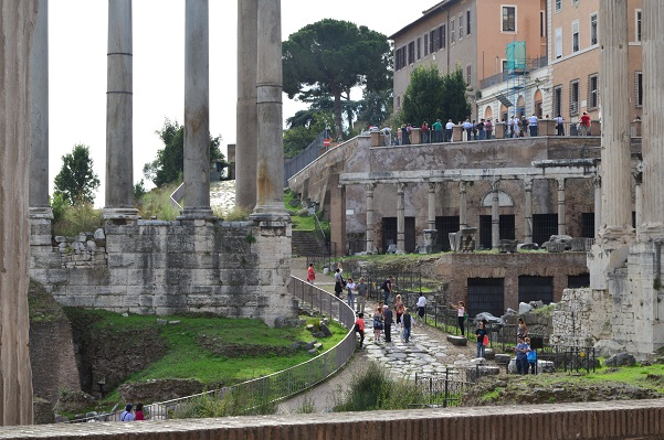 Roadway Up To Capitoline Hill