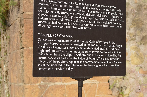 Temple-Of-Caesar-Sign-Roman-Forum