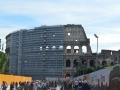 Colosseum Scaffolding Wide Shot