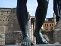 Augustus' Forum Through His Legs